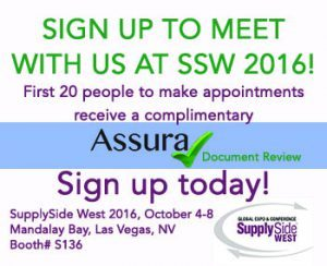 SSW 2016 SORA booth# with assuracheck