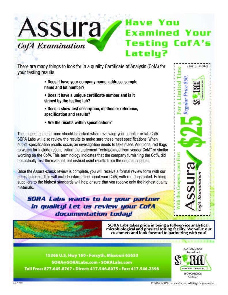 Assura Check Flyer